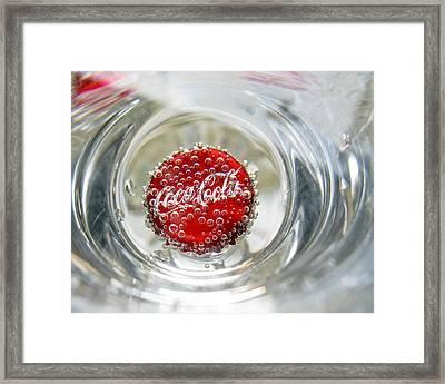 Coke Cap Framed Print by Francis Sullivan