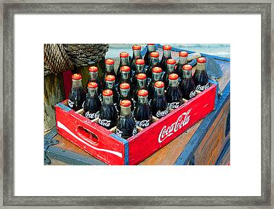 Coke Case Framed Print