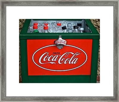 Coke Cooler Framed Print