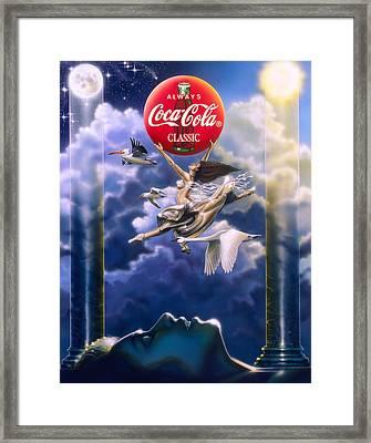 Coke Dreams Framed Print