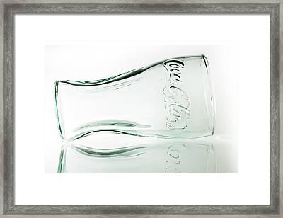 Coke Glass. Framed Print