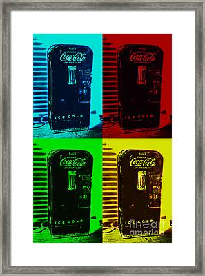 Coke Poster Framed Print by Kevin Fortier