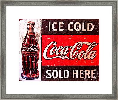 Coke Framed Print by Reid Callaway
