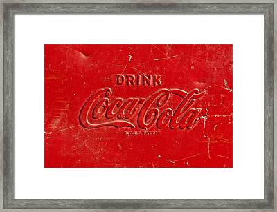 Coke Sign Framed Print by Jill Reger