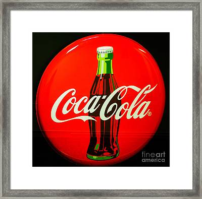 Coke Top Framed Print by Tikvah's Hope