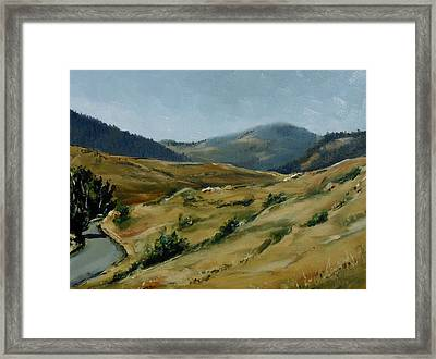 Cokedale Road Livingston Montana Framed Print