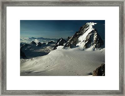Col Du Midi Framed Print by Duncan Shaw