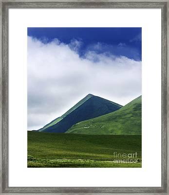 Col Of Croix Morand. The Sancy Massif. Auvergne. France. Framed Print