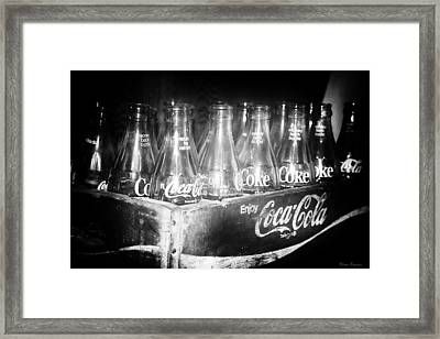 Cola Crate Framed Print