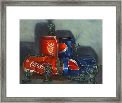Cola Wars Framed Print by Judy Sherman