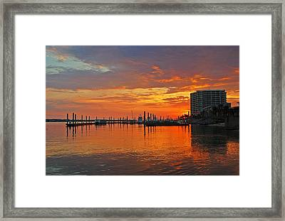 Framed Print featuring the digital art Colbalt Morning by Michael Thomas