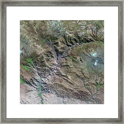 Colca Canyon Framed Print by Us Geological Survey