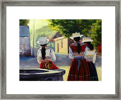 Colca Valley Ladies Framed Print