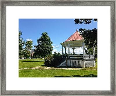 Colchester Vermont Gazebo Framed Print by William Alexander