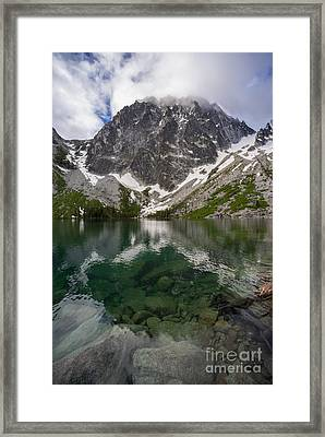 Colchuck Lake Clarity Framed Print by Mike Reid