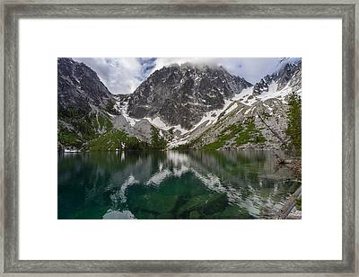 Colchuck Lake Clear Waters Framed Print by Mike Reid