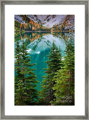 Colchuck Reflection Framed Print by Inge Johnsson