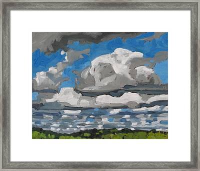Cold Air Mass Cumulus Framed Print