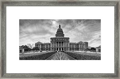 Cold And Blustery Day At The Texas State Capitol Austin Framed Print