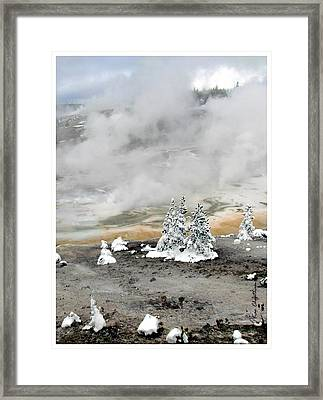 Cold And Hot Trees Framed Print by Kae Cheatham