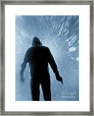 Cold As Ice Framed Print