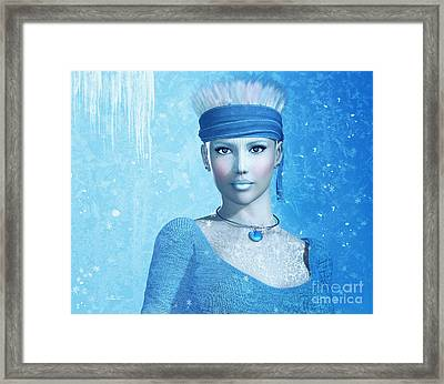 Cold As Ice Framed Print by Jutta Maria Pusl