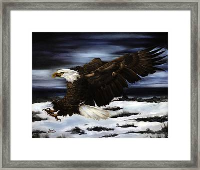 Cold Attack Framed Print by Jamil Alkhoury
