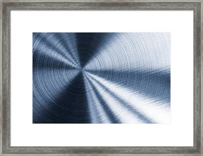 Cold Blue Metallic Texture Framed Print
