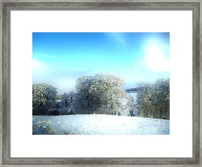 Cold Blue Framed Print