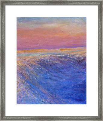 Cold Blush Framed Print by Helen Campbell