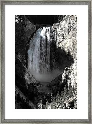 Framed Print featuring the photograph Cold Cascade  by David Andersen