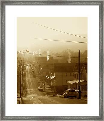 Cold Coal Town Morning Framed Print by Feva  Fotos