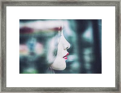 Cold Colorful Girl Framed Print