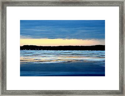 Cold Colour Wash 3 - Canada Framed Print