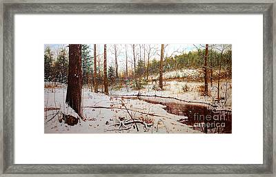 Framed Print featuring the painting Cold Creek Arkansas by Mike Ivey