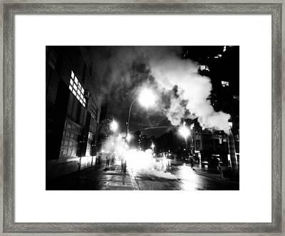 Cold Dark Corner Framed Print by Jhoy E Meade
