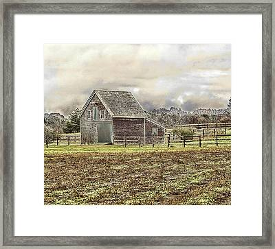 Framed Print featuring the photograph Cold Day by Constantine Gregory