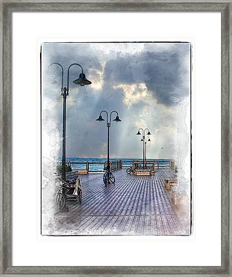 Cold Day In Monterey Framed Print