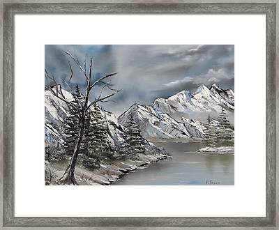 Cold Day Framed Print by Kevin  Brown