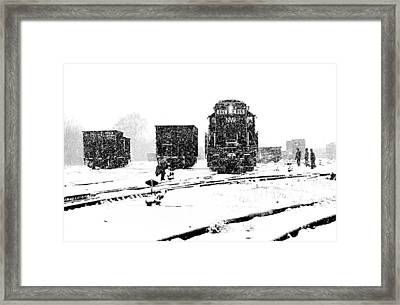 Cold Day On The Job Framed Print by Mike Flynn