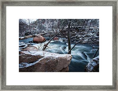 Cold Drift Framed Print by Bill Cantey