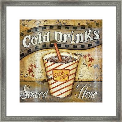 Cold Drinks Framed Print by Kim Lewis