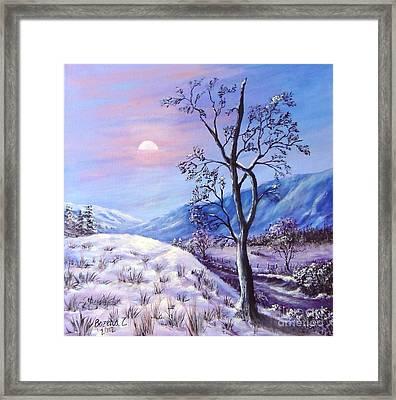 Framed Print featuring the painting Cold Evening by Bozena Zajaczkowska