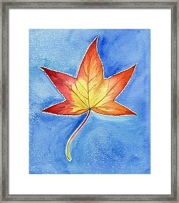 Cold Fall Sky Framed Print by Katherine Miller