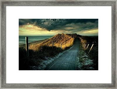 Cold Fence......... Framed Print