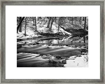 Cold Flows Framed Print