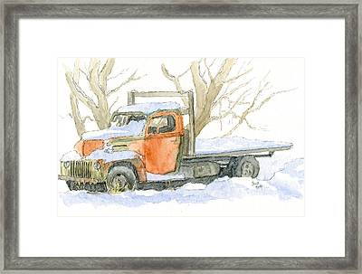 Cold Ford Framed Print