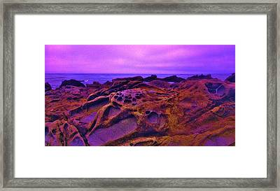 Cold Lava Framed Print by Sharon Costa