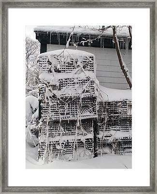 Framed Print featuring the photograph Cold Lobster Trap by Robert Nickologianis