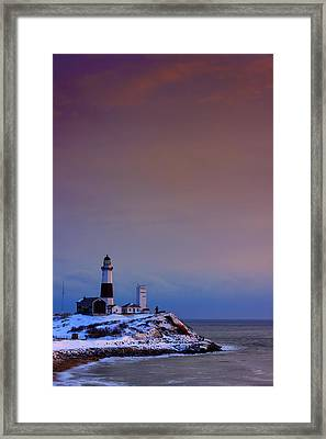 Cold Morning At Montauk Point Framed Print